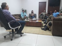 """Presidente da Câmara, prefeito de Gurupi e comandante do 4º BPM discutem execução do projeto """"Olho Vivo"""""""