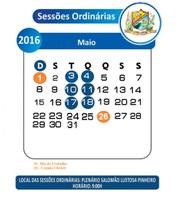 Sessões Ordinárias do Mês de Maio