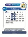 SESSÕES ORDINÁRIAS DO MÊS DE SETEMBRO